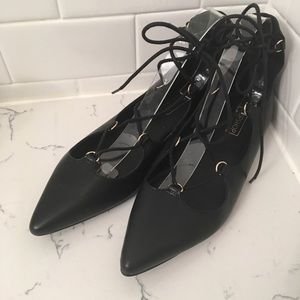 Topshop pointed strap flats